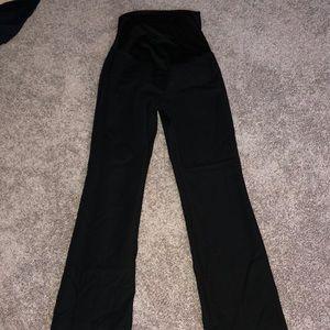 Black loft maternity pants
